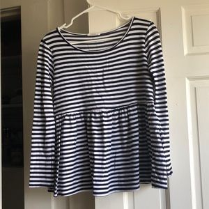 Roolee Striped Babydoll Top